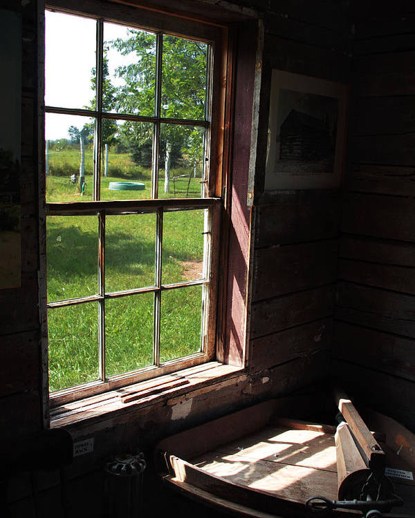 Old Window Poster featuring the photograph Morning Light by Joanne Coyle