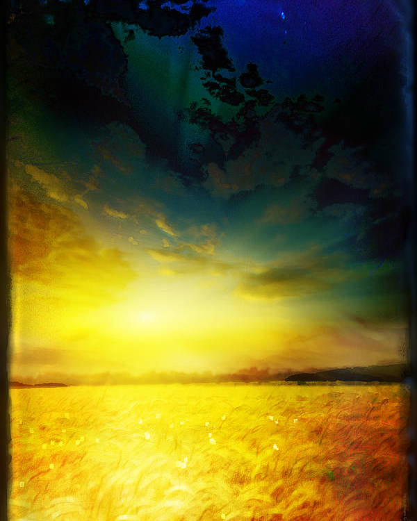 Landscape Poster featuring the mixed media Morning's Promise by Shevon Johnson