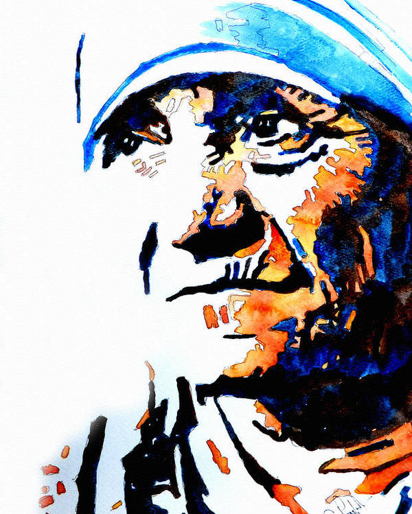 Mother Poster featuring the painting Mother Teresa by Steven Ponsford