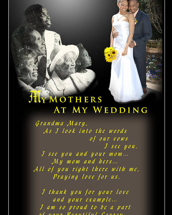 Wedding Poster featuring the photograph Mothers Blessings by Richard Gordon