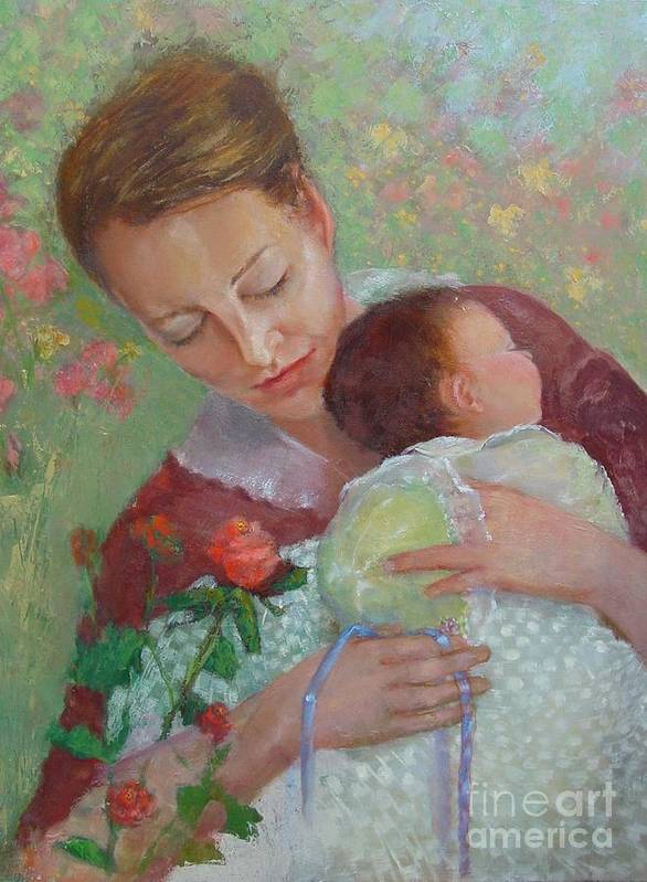 Traditional Portrait Poster featuring the painting Mother's Day  Copyrighted by Kathleen Hoekstra