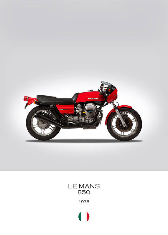 Moto Guzzi Le Mans Poster by Mark Rogan