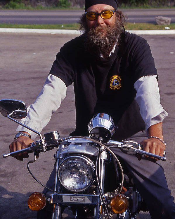 Nashville Poster featuring the photograph Motorcycle Minister by Randy Muir