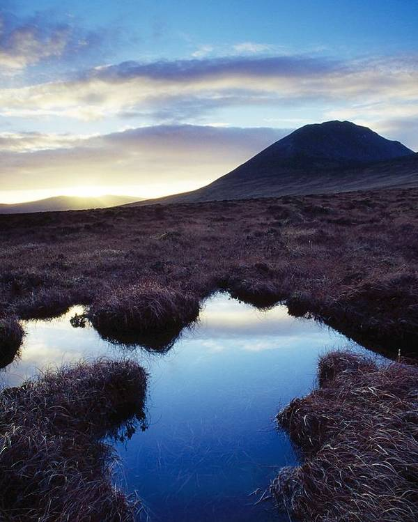 County Donegal Poster featuring the photograph Mount Errigal, County Donegal, Ireland by Gareth McCormack