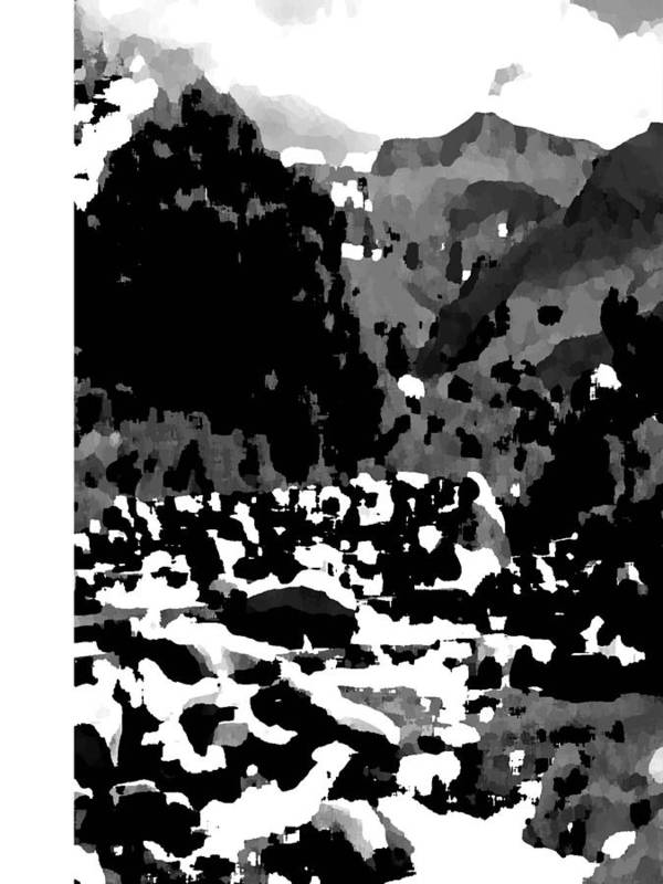 Landscape Black & White Poster featuring the photograph Mountain Landscape by Vijay Sharon Govender