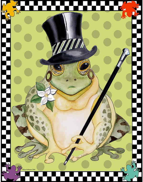 Animals Poster featuring the print Mr. Beau Frog by Kay Robinson