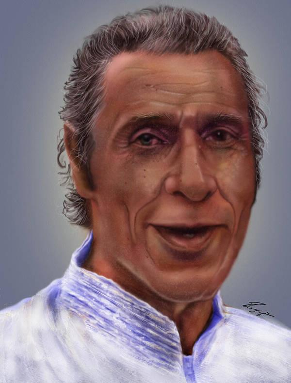 Hispanic Male. Portrait Poster featuring the painting Mr. Garay Portrait by Reggie Duffie
