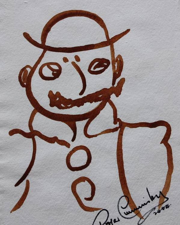 James Joyce Ulysses Poster featuring the painting Mr Leopold Bloom by Roger Cummiskey