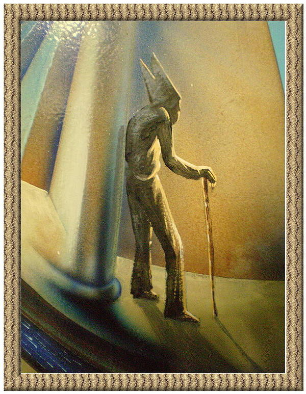 Catholic Poster featuring the painting Mr Religion Grows Old by Joe Santana