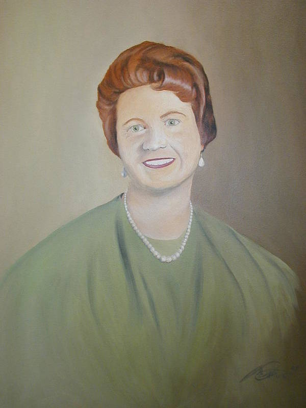 Portrait Poster featuring the painting Ms. Bryant by Angelo Thomas