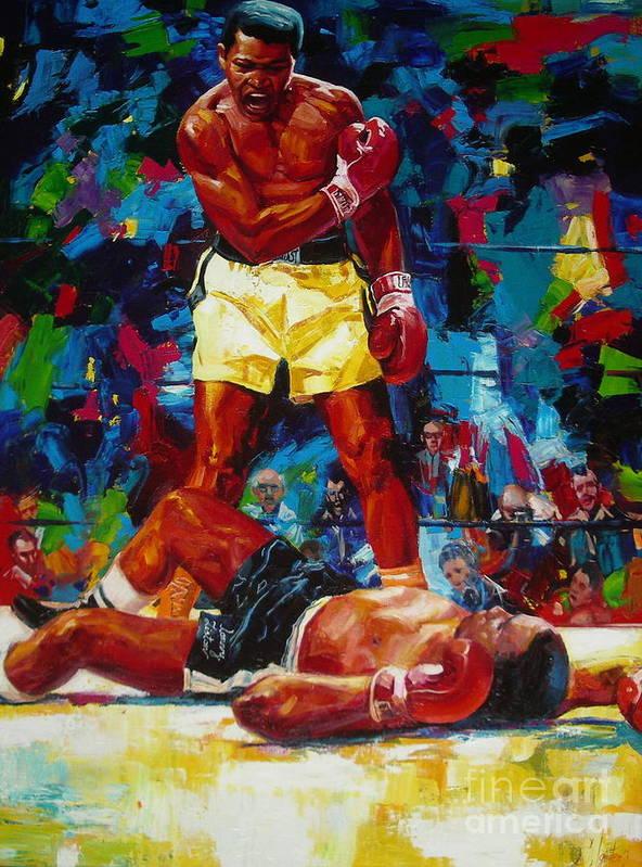 Ignatenko Poster featuring the painting Muhammad Ali by Sergey Ignatenko