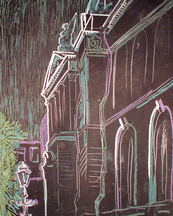 Cityscape Poster featuring the drawing Mukha by Kseniya Nelasova