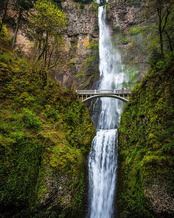 Multnomah Falls Poster featuring the photograph Multnomah Falls by Harry Spitz