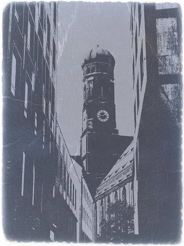 Poster featuring the photograph Munich Frauenkirche by Naxart Studio