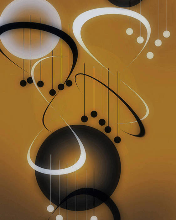 Abstract Poster featuring the digital art Music by Brian Fisher