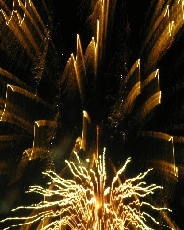 Fireworks Poster featuring the photograph Music To My Eyes by Rhonda Barrett