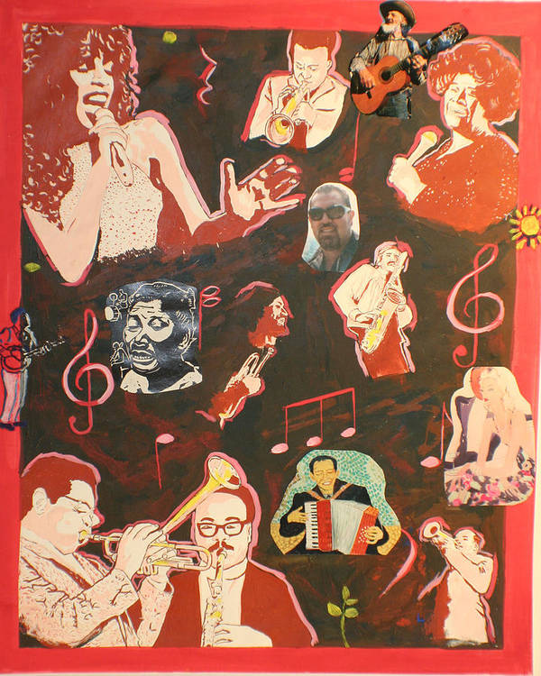Poster featuring the painting Musicians and Peter by Biagio Civale