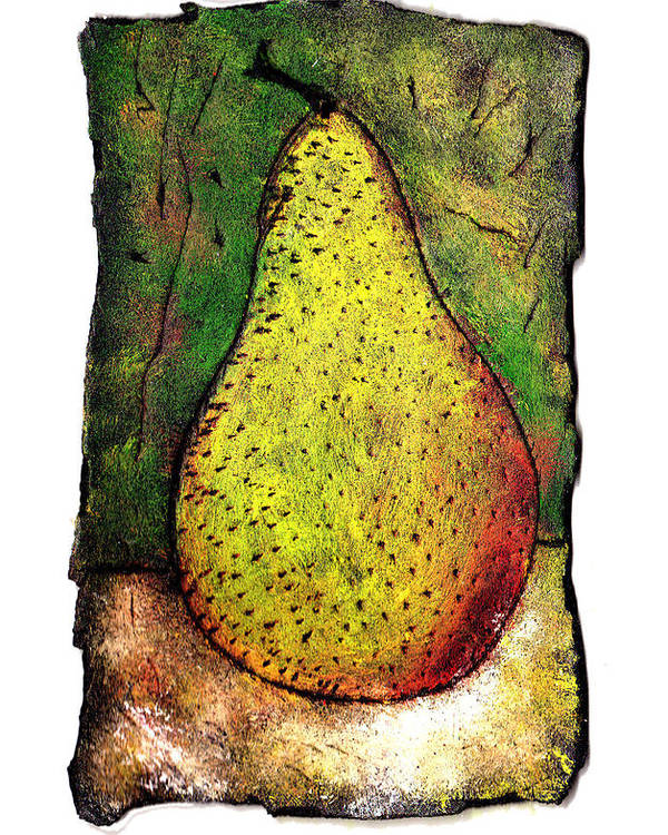 Pear Poster featuring the painting My Favorite Pear One by Wayne Potrafka