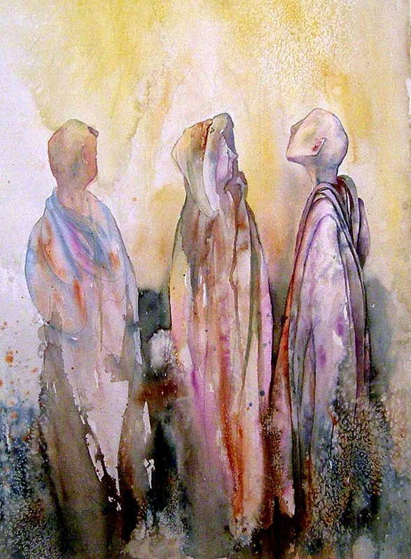 Spiritual Poster featuring the painting My Spirit Guides by Wendy Hill