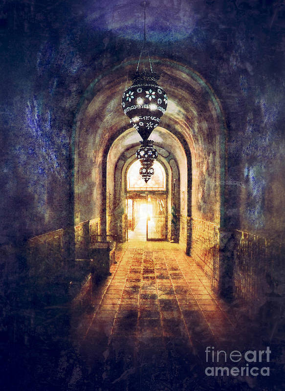 Hall Poster featuring the photograph Mysterious Hallway by Jill Battaglia