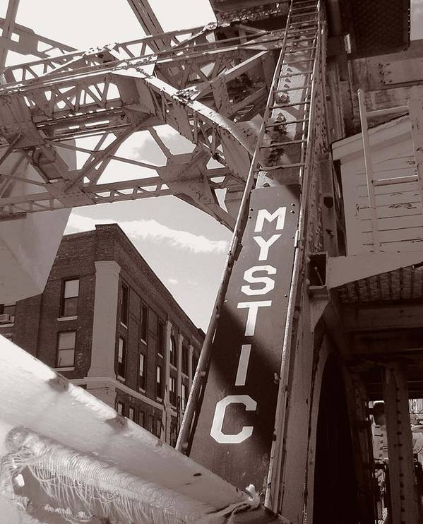Mystic Poster featuring the photograph Mystic Drawbridge by Heather Weikel