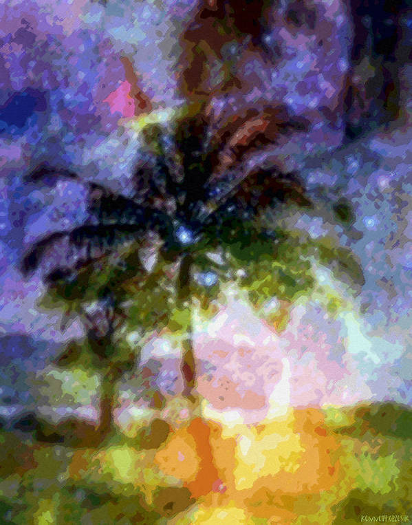 Tropical Interior Design Poster featuring the photograph Mystic Palm by Kenneth Grzesik