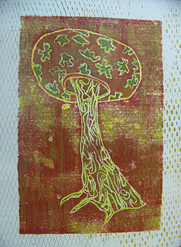 Organic Poster featuring the painting Myxomycetes 3 by Angela Dickerson