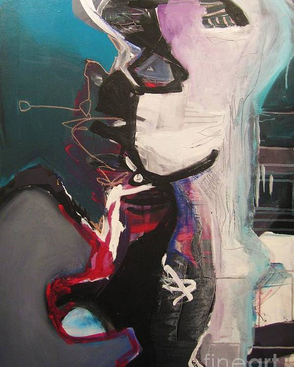 Abstract Art Paintings Poster featuring the painting Nagging Voice by Seon-Jeong Kim