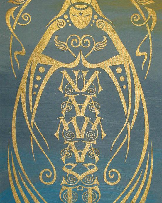 Namaste Poster featuring the mixed media Namaste Reflectograph by Cristina McAllister