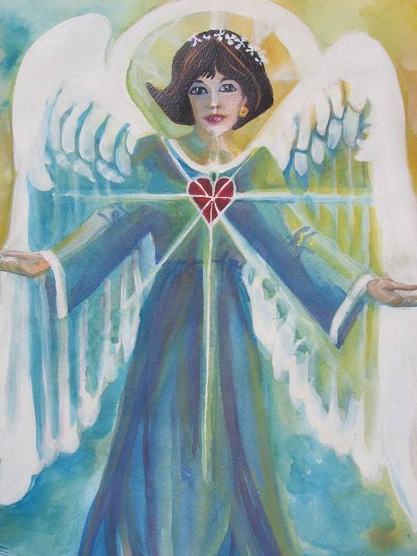 Nancy Mosconi Poster featuring the painting Nancy by Mary Sonya Conti