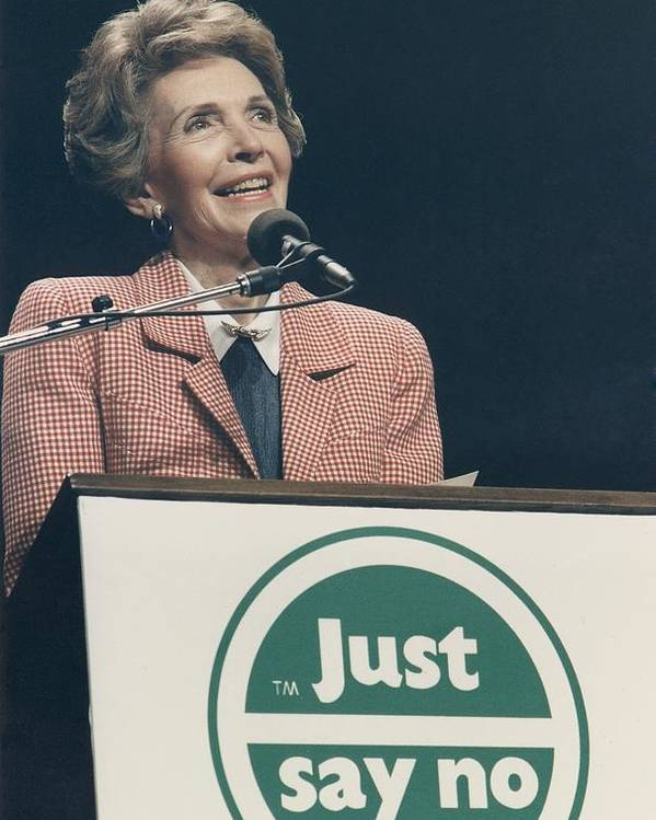 History Poster featuring the photograph Nancy Reagan Speaking At A Just Say No by Everett