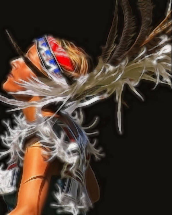 Native Poster featuring the photograph Native Maiden by Gene Praag