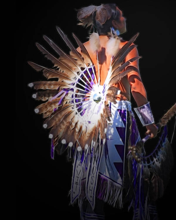 Native Poster featuring the photograph Native Spirit by Gene Praag