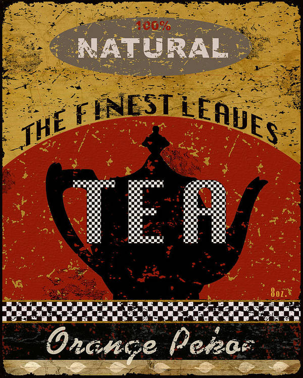 Tea Poster featuring the mixed media Natural Tea by Marilu Windvand