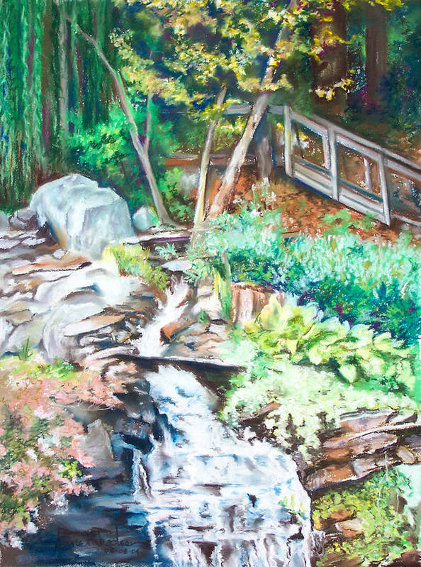 Woods Poster featuring the painting Nature Walk by Anne Rhodes