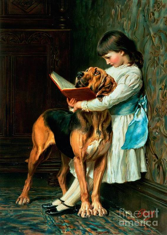 Naughty Poster featuring the painting Naughty Boy Or Compulsory Education by Briton Riviere