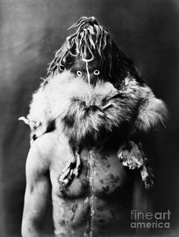 1905 Poster featuring the photograph Navajo Mask, C1905 by Granger