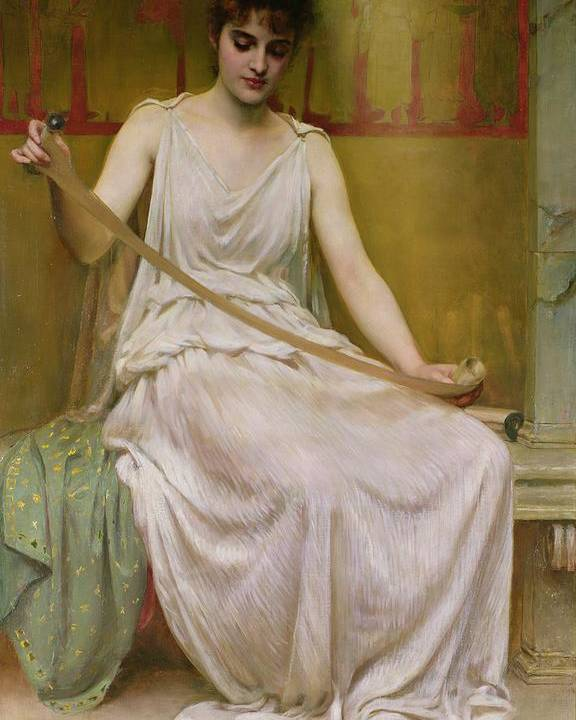 Neaera Poster featuring the painting Neaera Reading A Letter From Catullus by Henry John Hudson