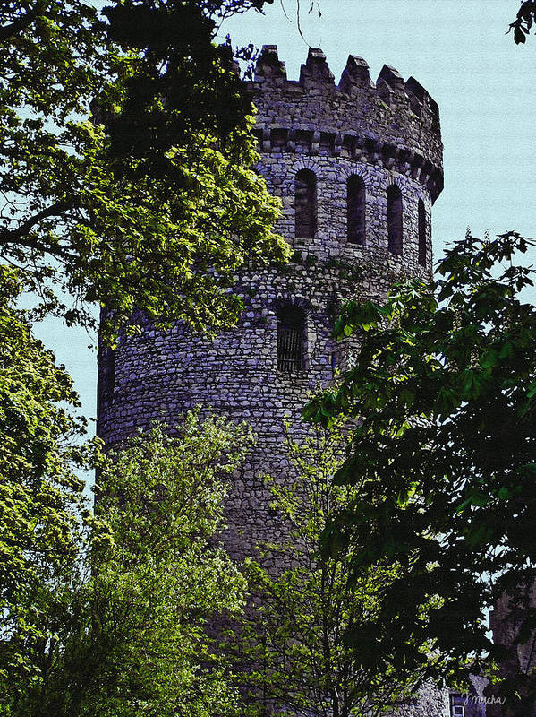 Nenagh Poster featuring the painting Nenagh Castle Ireland by Teresa Mucha