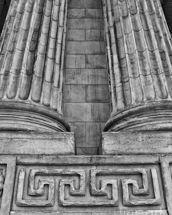 New York Poster featuring the photograph Neo Classical Architectural Detail In New York City by Bob Estremera