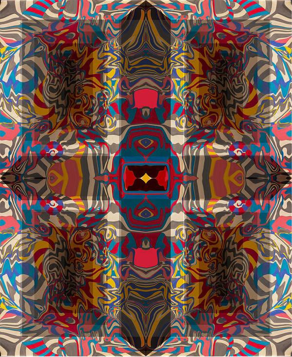 Surrealistic Geometry Poster featuring the digital art Neo-geo 1 by Olga Spiegel