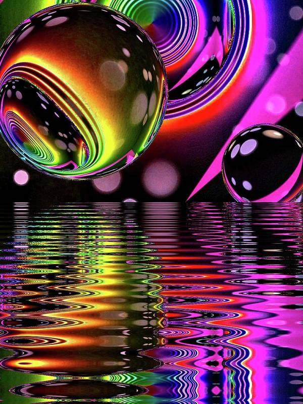8760729ed55 Neon Poster featuring the digital art Neon Vortex Galaxy by Galaxy Moonkat