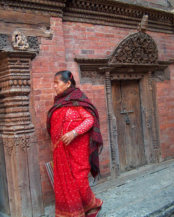 Old Lady Poster featuring the photograph Nepalese Woman by Dorota Nowak