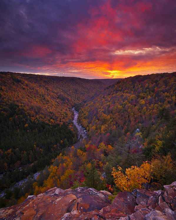 West Virginia Poster featuring the photograph Neverending Autumn by Joseph Rossbach