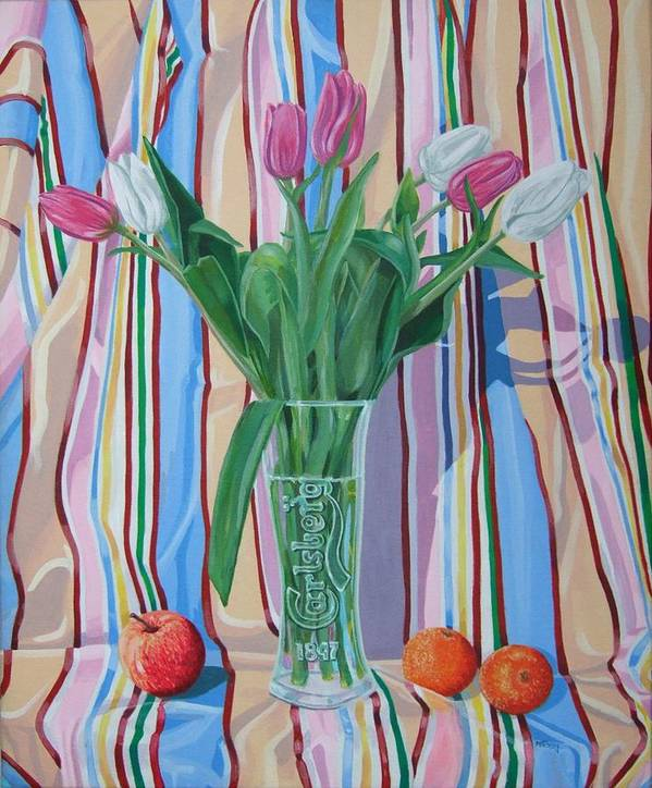 Floral Poster featuring the painting New Dawn by Michael McEvoy