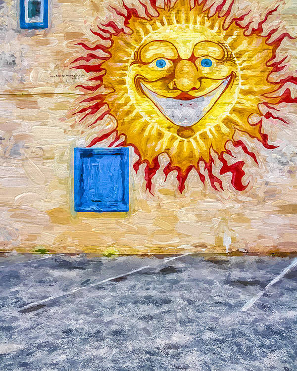 Sun Poster featuring the digital art New Day Morning Wall by Jeff Clarke