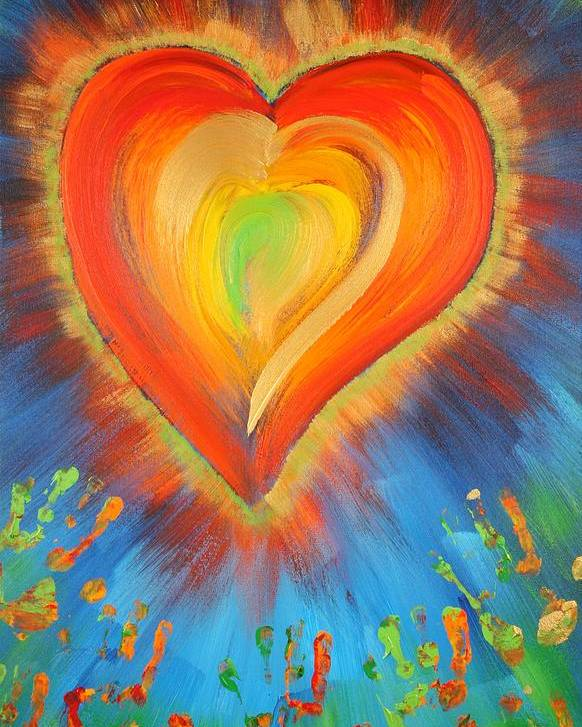 Heart Poster featuring the painting New Heart by Gary Rowell