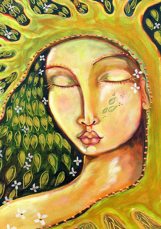 Tree Of Life Poster featuring the painting New Life by Shiloh Sophia McCloud