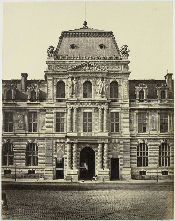 Nature Poster featuring the painting New Louvre. Pavilion Of The Imperial Library, Parijs, Edouard Denis Baldus, 1856 - 1857 by Edouard Denis Baldus