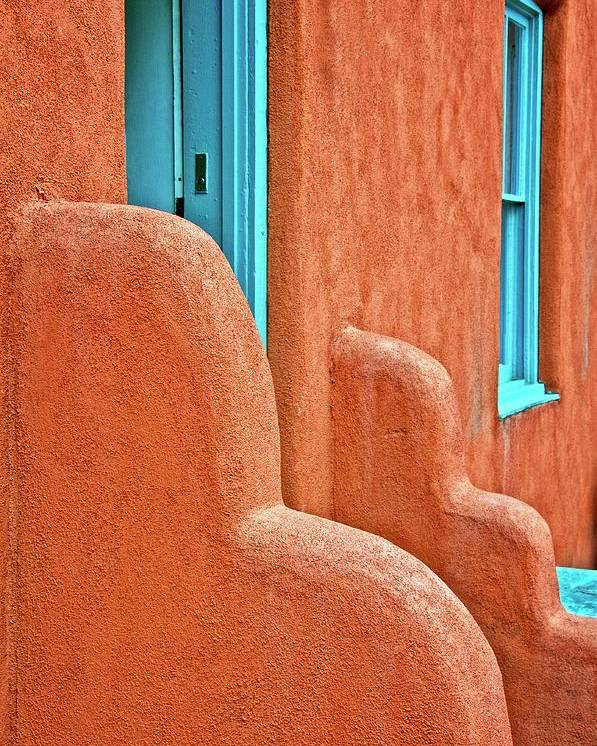 Door Poster featuring the photograph New Mexico Style by Zayne Diamond Photographic